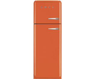 Smeg Left Hand Hinge 70/30 Fridge Freezer - Orange - A++ Rated