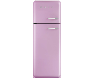 Smeg Left Hand Hinge FAB30LFP 70/30 Fridge Freezer - Pink - A++ Rated