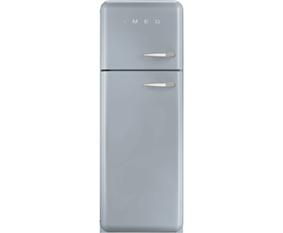 Smeg Left Hand Hinge 70/30 Fridge Freezer - Silver - A++ Rated