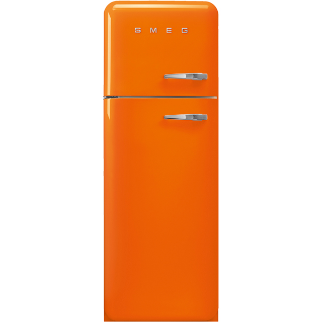 Smeg Left Hand Hinge FAB30LOR3 70/30 Fridge Freezer - Orange - A+++ Rated - FAB30LOR3_OR - 1