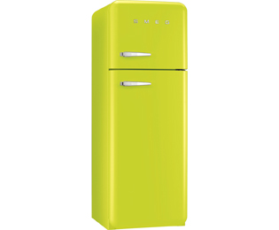 Smeg Right Hand Hinge 70/30 Fridge Freezer - Lime Green - A++ Rated