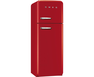 Smeg Right Hand Hinge FAB30RFR 70/30 Fridge Freezer - Red - A++ Rated