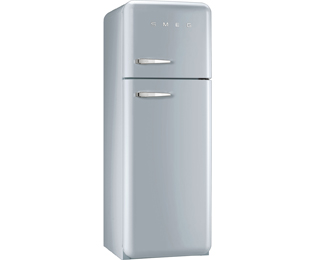 Smeg Right Hand Hinge 70/30 Fridge Freezer - Silver - A++ Rated