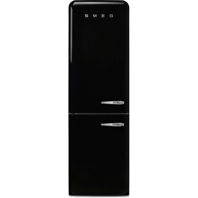 Smeg Left Hand Hinge FAB32LBL3UK 60/40 Frost Free Fridge Freezer - Black - A+++ Rated - FAB32LBL3UK_BK - 1