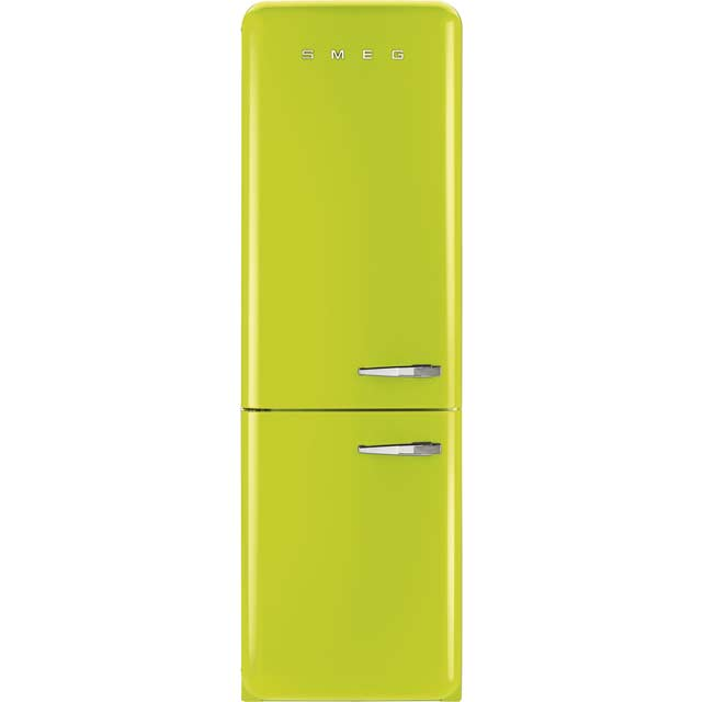 Smeg Left Hand Hinge 60/40 Frost Free Fridge Freezer - Lime Green - A++ Rated