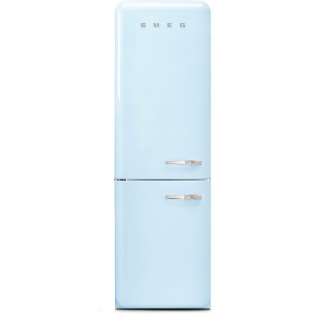Smeg Left Hand Hinge 60/40 Frost Free Fridge Freezer - Pastel Blue - A+++ Rated