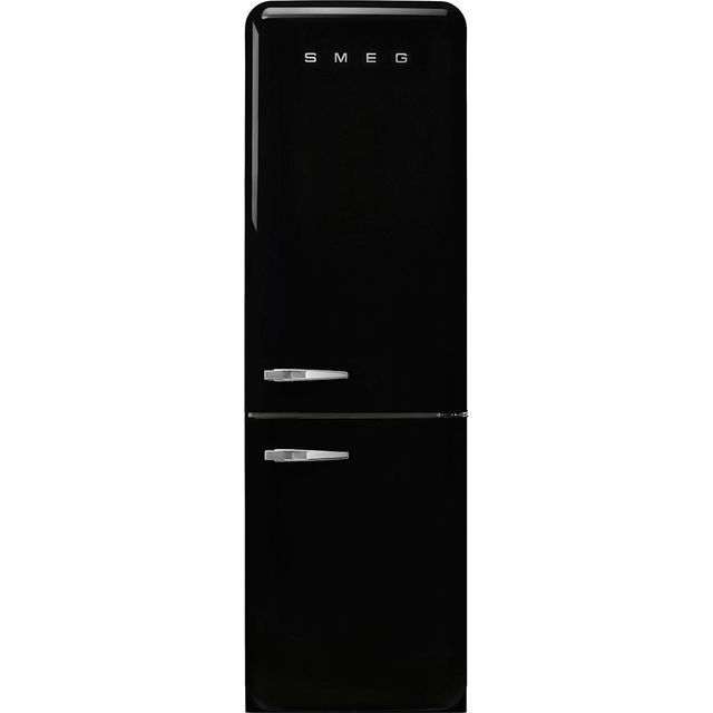 Smeg Right Hand Hinge FAB32RBL3UK 60/40 Frost Free Fridge Freezer - Black - A+++ Rated - FAB32RBL3UK_BK - 1