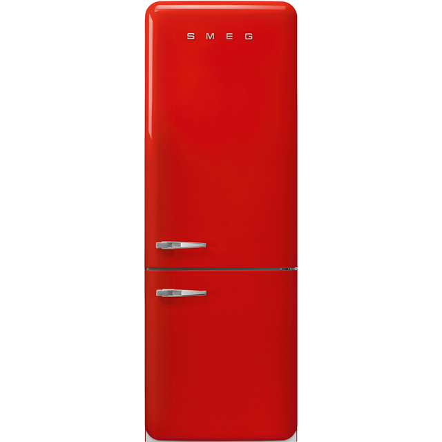 Smeg Right Hand Hinge FAB38RRD 70/30 Frost Free Fridge Freezer - Red - A++ Rated - FAB38RRD_RD - 1