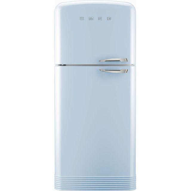 Smeg Left Hand Hinge 80/20 Frost Free Fridge Freezer - Pastel Blue - A++ Rated