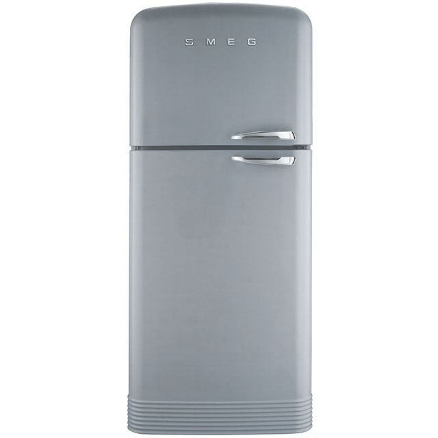 Smeg Left Hand Hinge 80/20 Frost Free Fridge Freezer - Silver - A++ Rated