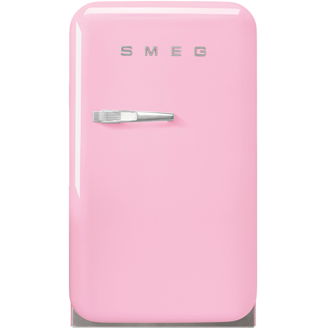 Smeg Right Hand Hinge FAB5RPK3 Fridge - Pink - D Rated