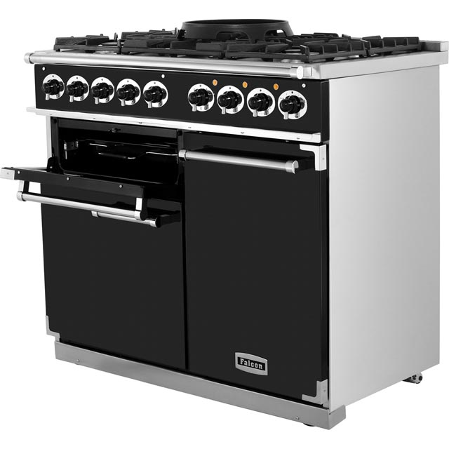Falcon F1000DXDFCA/NM 1000 DELUXE 100cm Dual Fuel Range Cooker - China Blue - F1000DXDFCA/NM_CHB - 2