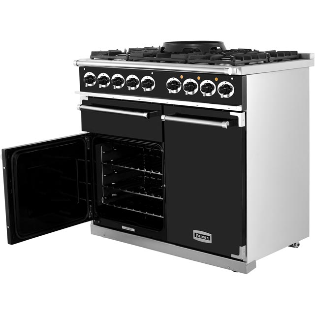 Falcon F1000DXDFCA/NM 1000 DELUXE 100cm Dual Fuel Range Cooker - China Blue - F1000DXDFCA/NM_CHB - 4