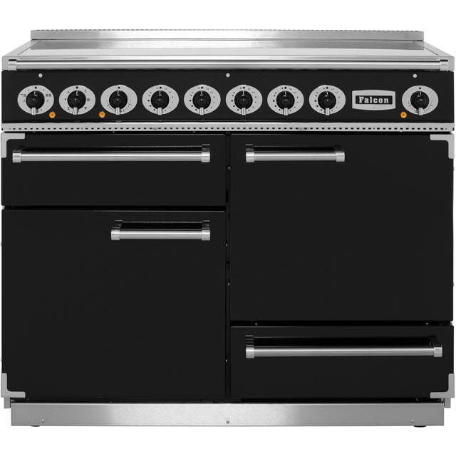 Falcon 1092 DELUXE 110cm Electric Range Cooker with Induction Hob - Black - A/A Rated