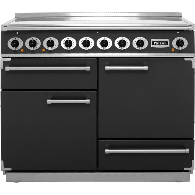 Falcon 1092 DELUXE F1092DXEISL/N 110cm Electric Range Cooker with Induction Hob - Slate - A/A Rated - F1092DXEISL/N_SL - 1