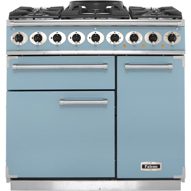 Falcon 900 DELUXE F900DXDFCA/NM 90cm Dual Fuel Range Cooker - China Blue - A/A Rated - F900DXDFCA/NM_CHB - 1