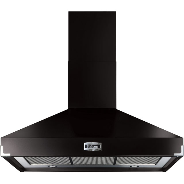 Falcon 100 cm Chimney Cooker Hood - Black - A Rated