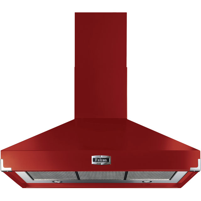 Falcon 100 cm Chimney Cooker Hood - Cherry Red - A Rated
