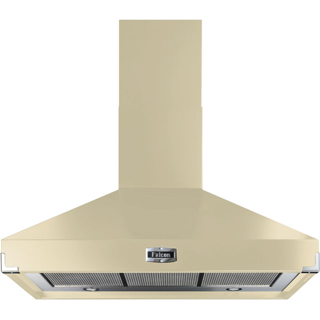 Falcon 100 cm Chimney Cooker Hood - Cream - A Rated