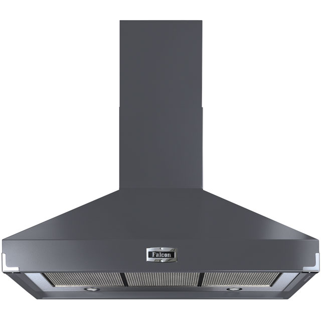 Falcon 100 cm Chimney Cooker Hood - Slate - A Rated