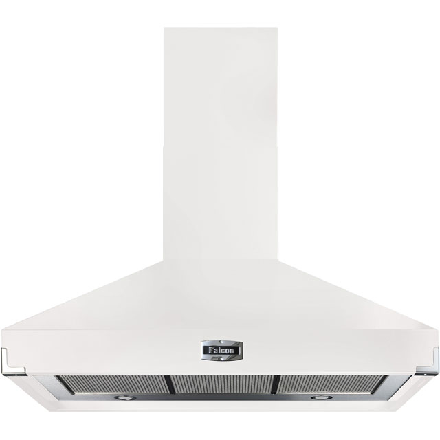 Falcon 100 cm Chimney Cooker Hood - White - A Rated