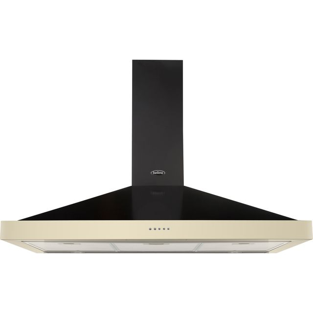 Belling FARMHOUSE 100 CHIM Built In Chimney Cooker Hood - Cream - FARMHOUSE 100 CHIM_CR - 1