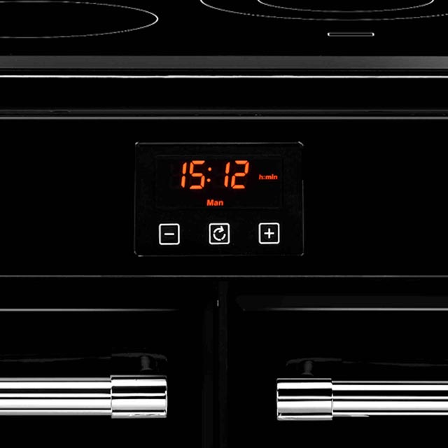Belling Farmhouse100E 100cm Electric Range Cooker - Black - Farmhouse100E_BK - 2