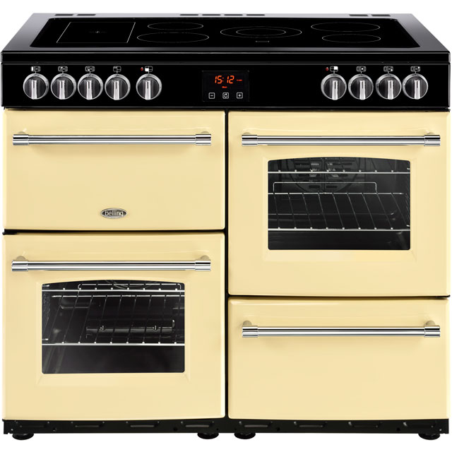 Belling Farmhouse100E 100cm Electric Range Cooker with Ceramic Hob - Cream - A/A Rated - Farmhouse100E_CR - 1
