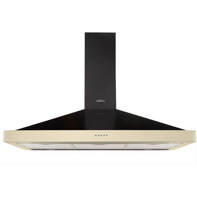 Belling 110 cm Chimney Cooker Hood - Cream - D Rated