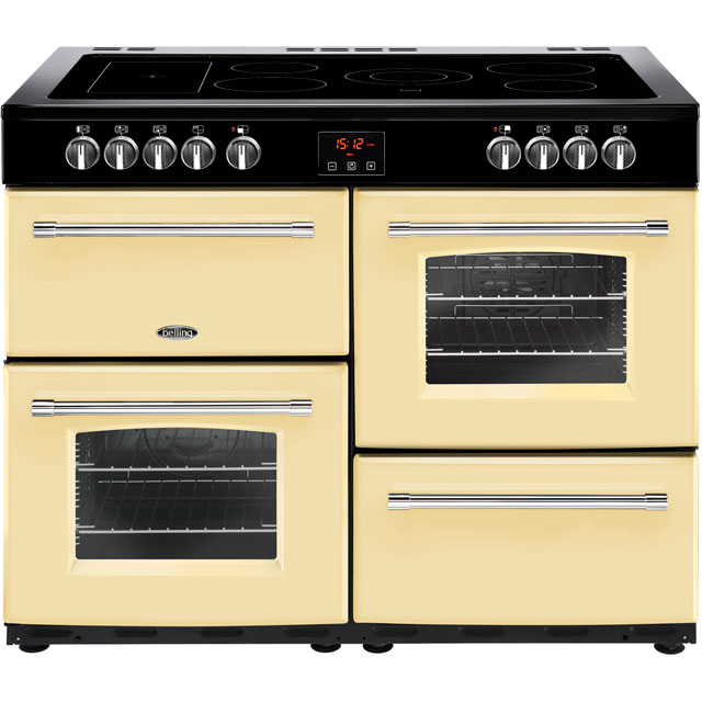 Belling Farmhouse110E 110cm Electric Range Cooker with Ceramic Hob - Cream - A/A Rated - Farmhouse110E_CR - 1