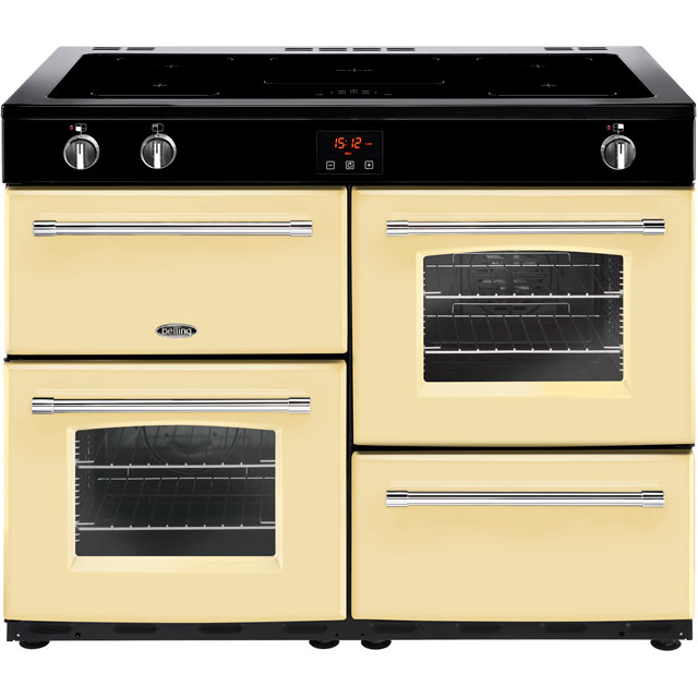 Belling Farmhouse110Ei 110cm Electric Range Cooker with Induction Hob - Cream - A/A Rated - Farmhouse110Ei_CR - 1
