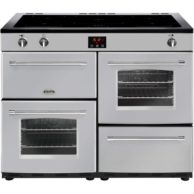 Belling Farmhouse110Ei 110cm Electric Range Cooker with Induction Hob - Silver - A/A Rated - Farmhouse110Ei_SI - 1