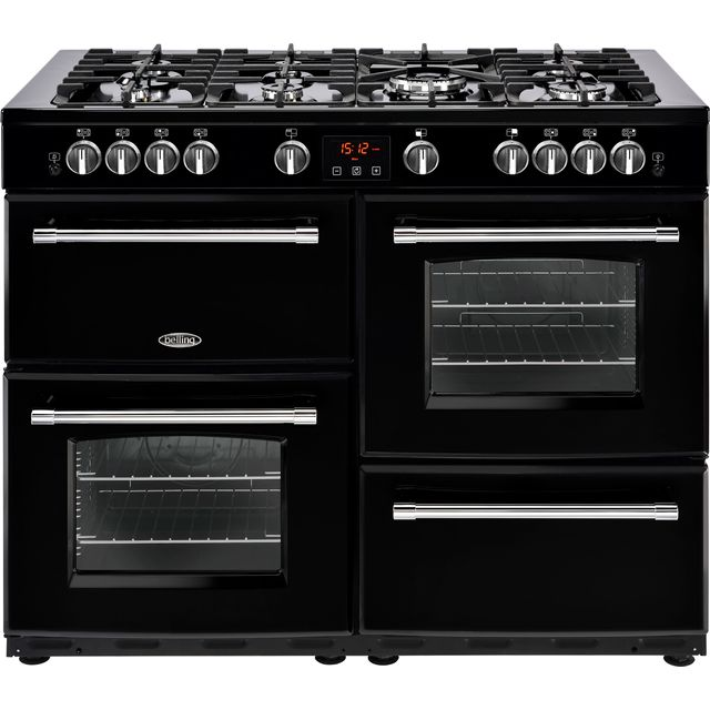 Belling Farmhouse110GT 110cm Gas Range Cooker - Black - A/A Rated - Farmhouse110GT_BK - 1
