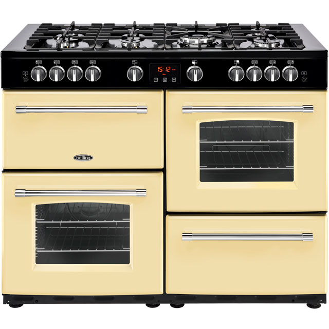 Belling Farmhouse110GT 110cm Gas Range Cooker - Cream - A/A Rated - Farmhouse110GT_CR - 1