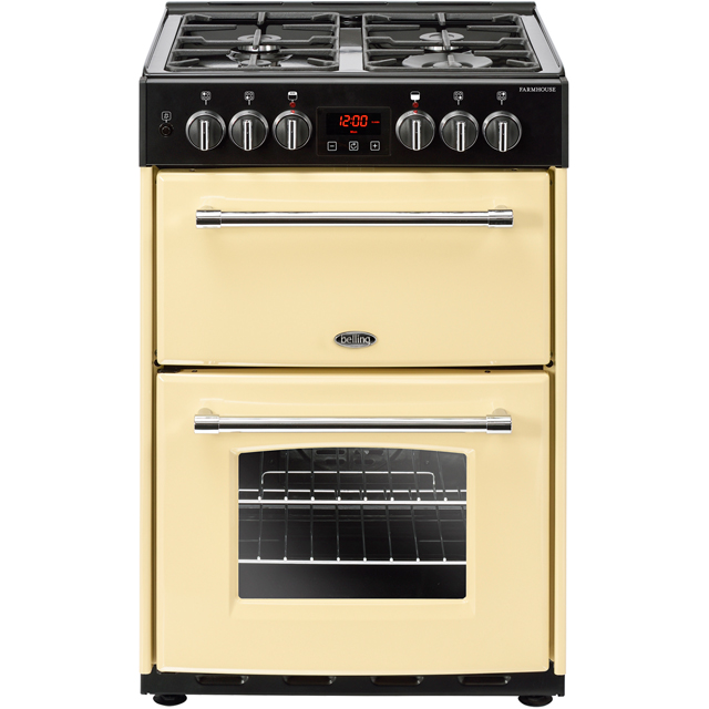 Belling Farmhouse60DF 60cm Dual Fuel Cooker - Cream - A/A Rated