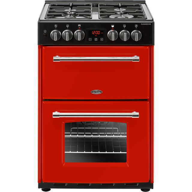 Belling Farmhouse60DF 60cm Dual Fuel Cooker - Hot Jalapeno - A/A Rated - Farmhouse60DF_HJA - 1