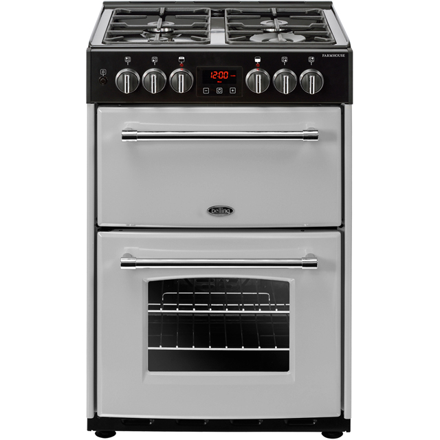 Belling Farmhouse60DF 60cm Dual Fuel Cooker - Silver - A/A Rated - Farmhouse60DF_SI - 1