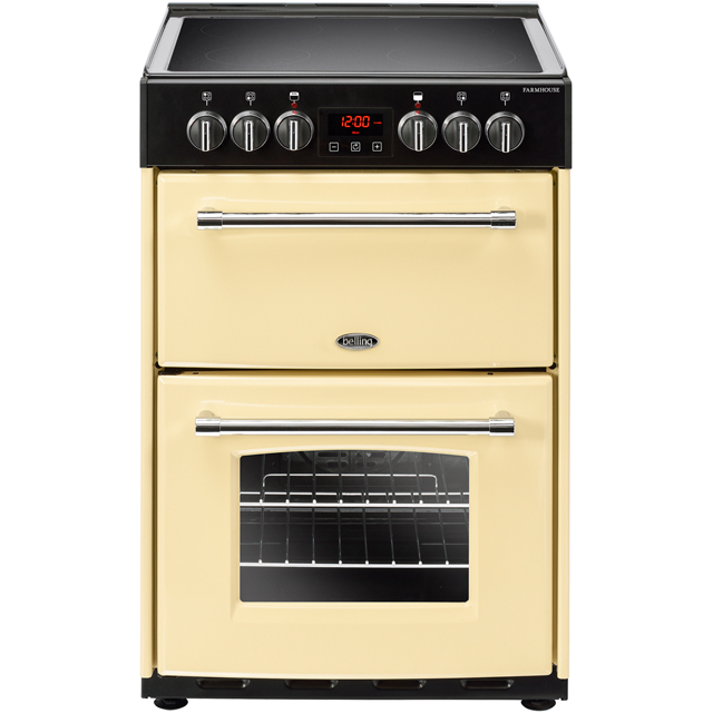 Belling Farmhouse60E 60cm Electric Cooker with Ceramic Hob - Cream - A/A Rated - Farmhouse60E_CR - 1