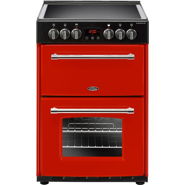 Belling Farmhouse 60EHJA in Red 444444712 60cm Freestanding Electric Cooker