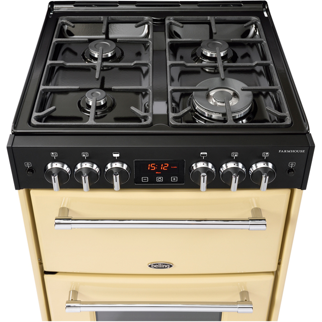 Belling Farmhouse60G Gas Cooker - Black - Farmhouse60G_BK - 3