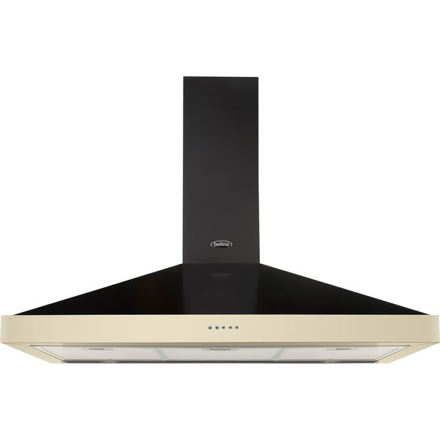 Belling FARMHOUSE 90 CHIM 90 cm Chimney Cooker Hood - Cream - FARMHOUSE 90 CHIM_CR - 1