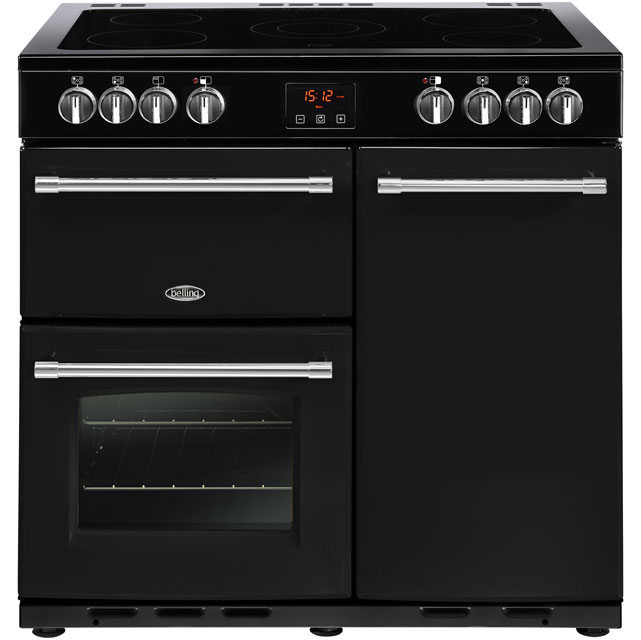 Belling Farmhouse90E 90cm Electric Range Cooker with Ceramic Hob - Black