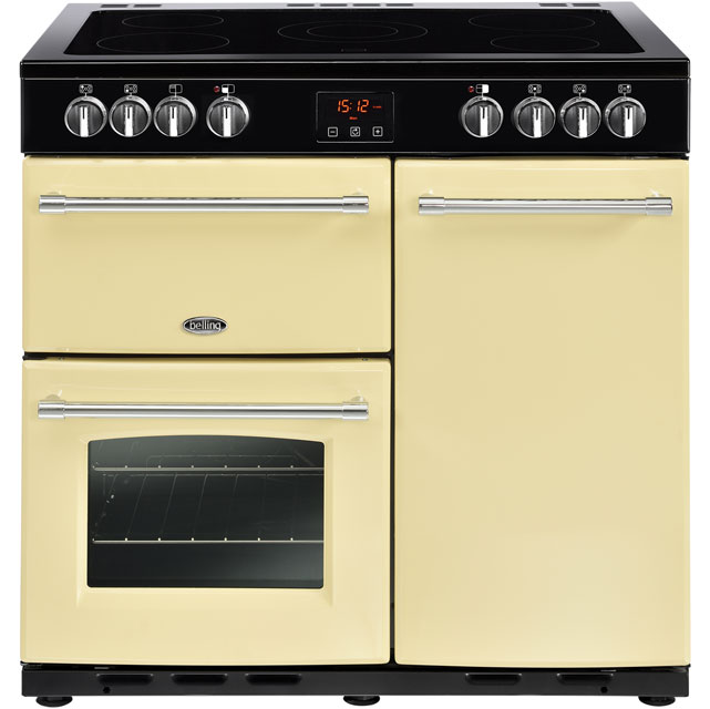 Belling Farmhouse90E 90cm Electric Range Cooker with Ceramic Hob - Cream - A/A Rated - Farmhouse90E_CR - 1