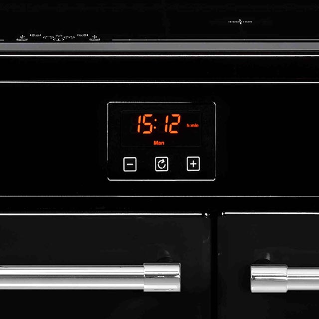 Belling Farmhouse90Ei 90cm Electric Range Cooker - Black - Farmhouse90Ei_BK - 2