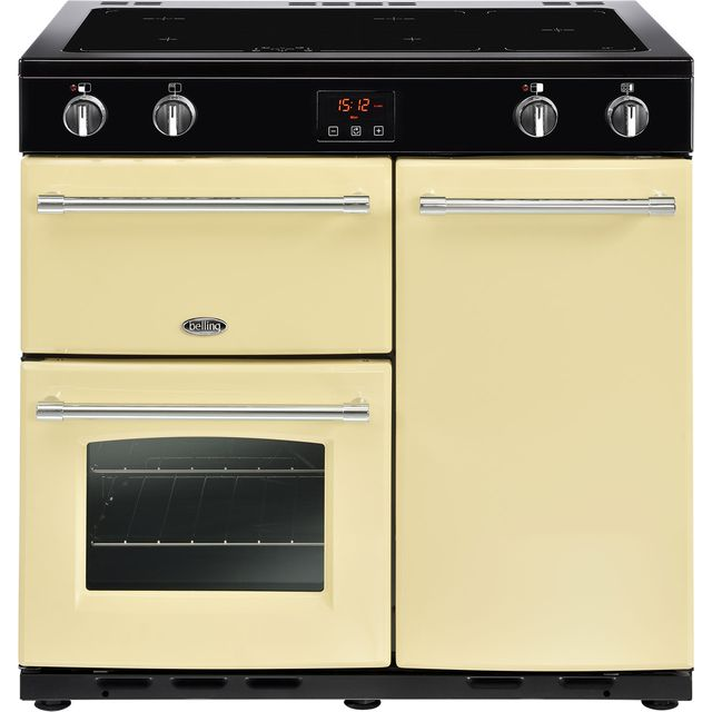 Belling Farmhouse90Ei 90cm Electric Range Cooker with Induction Hob - Cream - A/A Rated - Farmhouse90Ei_CR - 1