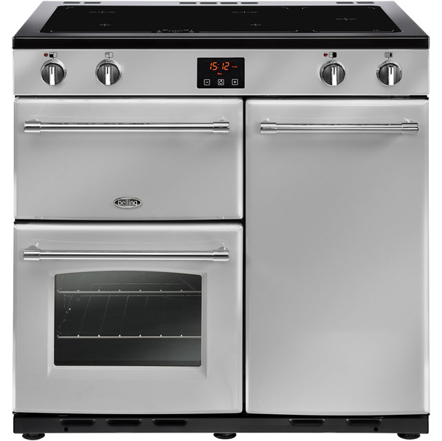 Belling 90cm Electric Range Cooker with Induction Hob - Silver - A/A Rated