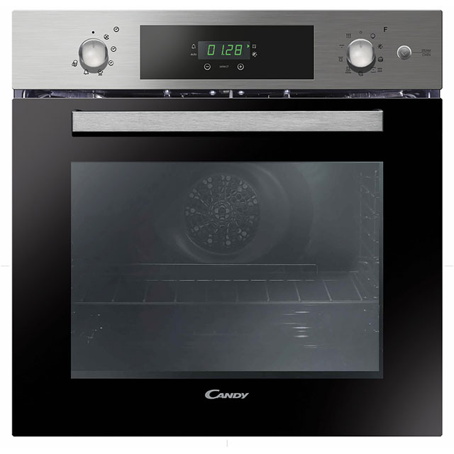 Candy FCPK618SX Built In Electric Single Oven with added Steam Function - Stainless Steel - A Rated - FCPK618SX_SS - 1