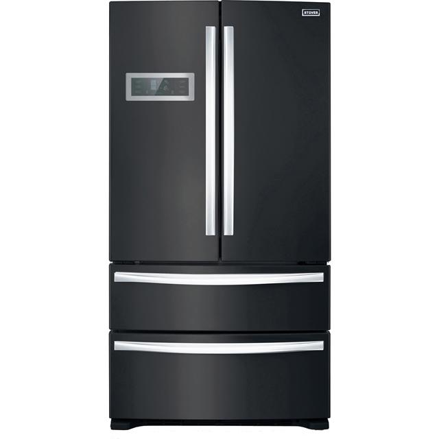 Stoves FD90B Free Standing American Fridge Freezer in Black