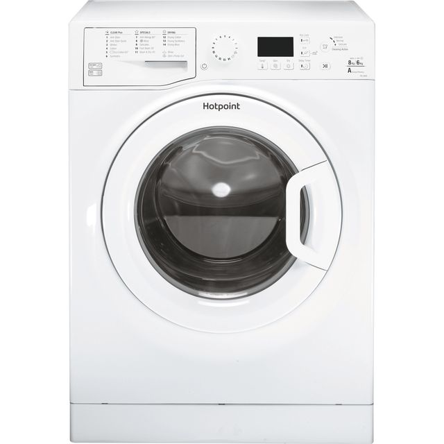 Hotpoint FDL8640PUK 8Kg / 6Kg Washer Dryer with 1400 rpm - White - FDL8640PUK_WH - 1