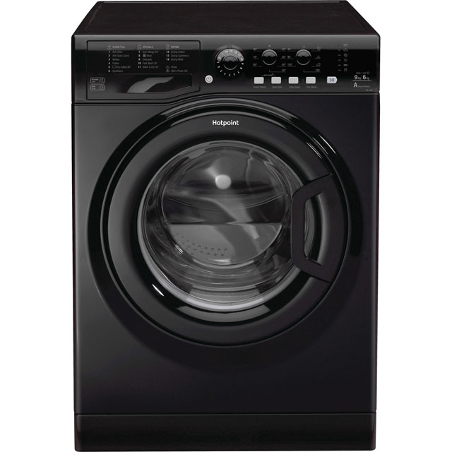 Hotpoint Ultima FDL9640K 9Kg / 6Kg Washer Dryer with 1400 rpm - Black - A Rated - FDL9640K_BK - 1